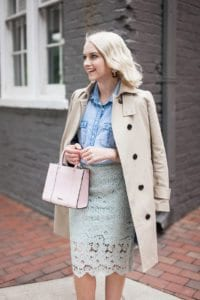 Poor Little It Girl - Lace Pencil Skirt - @poorlilitgirl