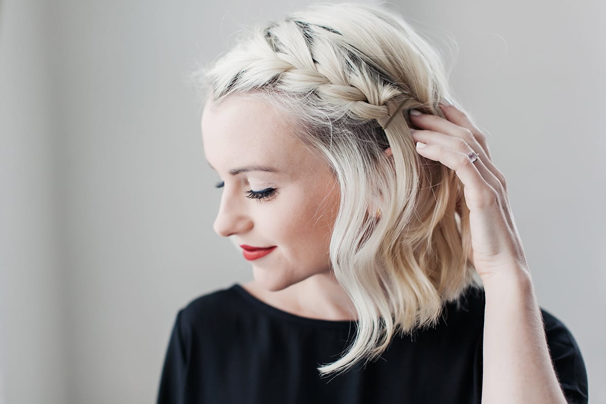 Superb How To Do A Side Braid On Short Hair Poor Little It Girl Short Hairstyles Gunalazisus