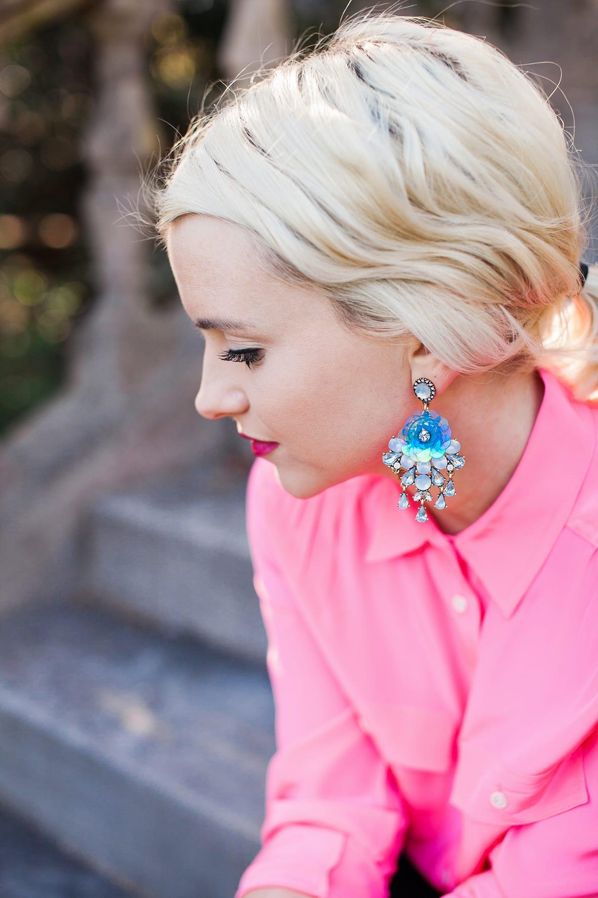 Poor Little It Girl - Blue Statement Earrings - @poorlilitgirl