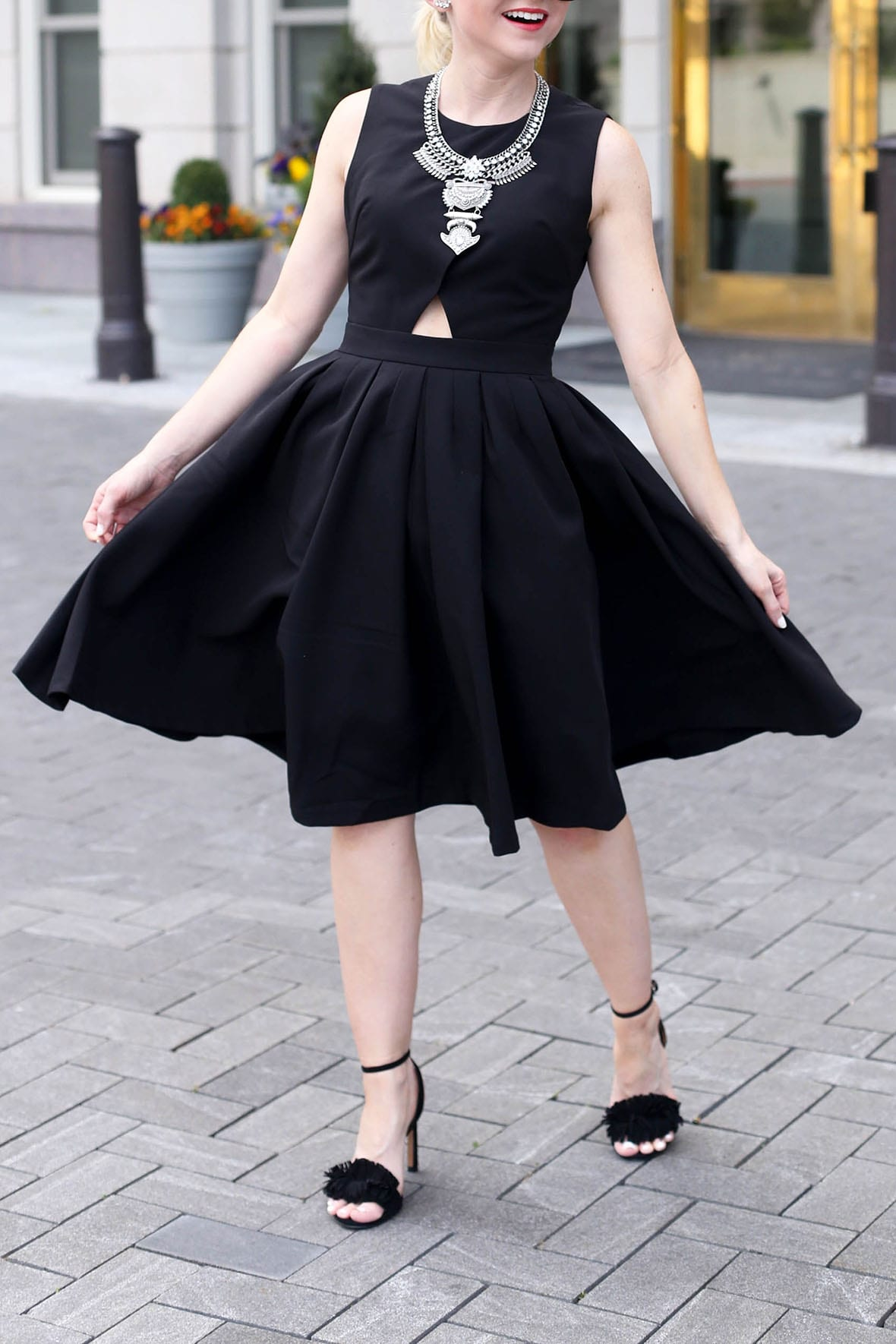 Poor Little It Girl - Cut Out Little Black Dress - @poorlilitgirl