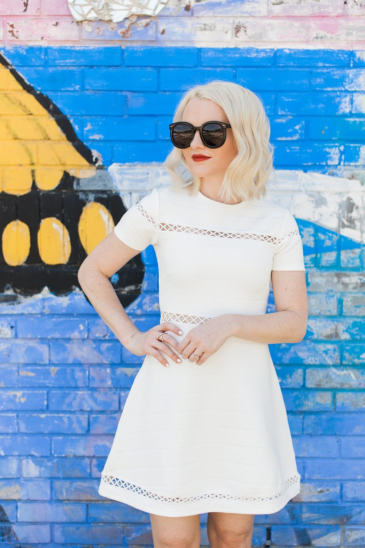Poor Little It Girl - White Skater Dress - @poorlilitgirl