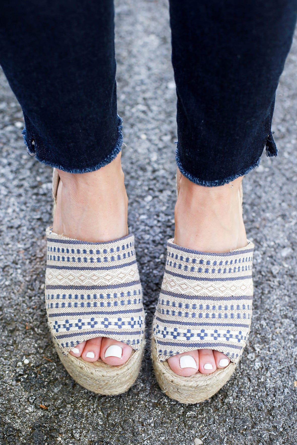 Summer Espadrille Sandals And White Lace Top Poor Little