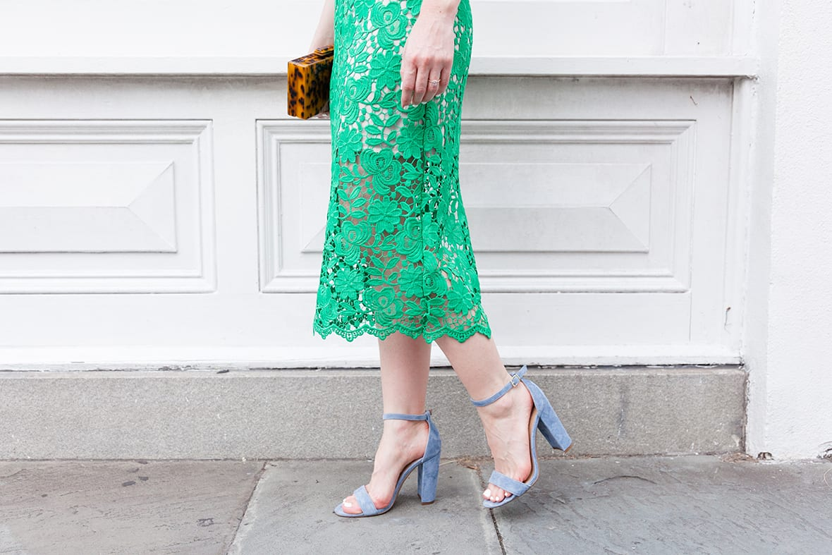 Poor Little It Girl - Green Lace Dress - @poorlilitgirl