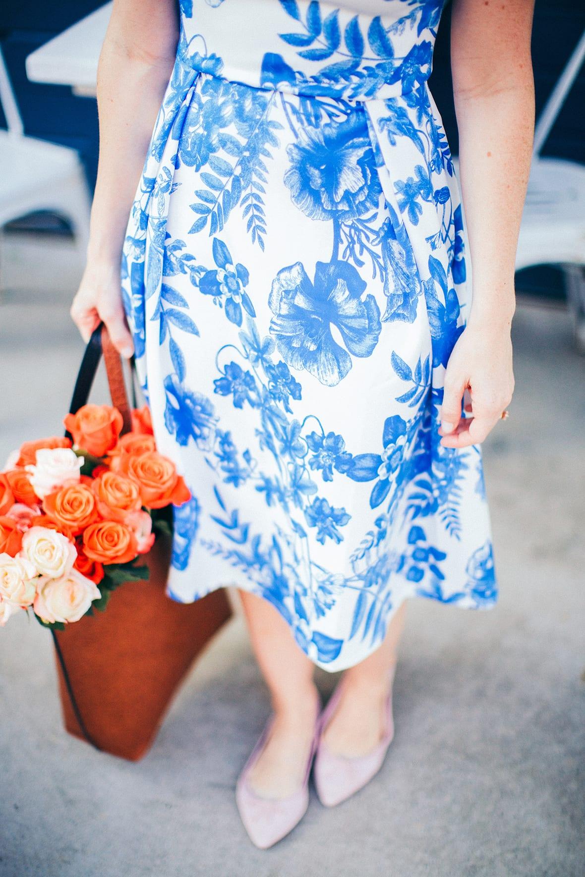 Poor Little It Girl - Blue Floral Dress - @poorlilitgirl
