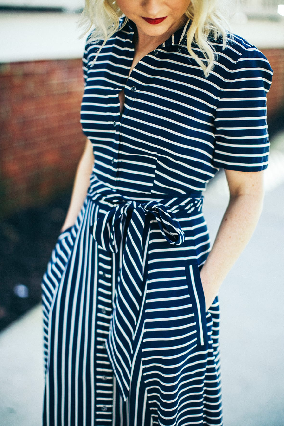Poor Little It Girl - Stripe Dress - @poorlilitgirl