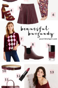 Poor Little It Girl - The Best Burgundy - @poorlilitgirl