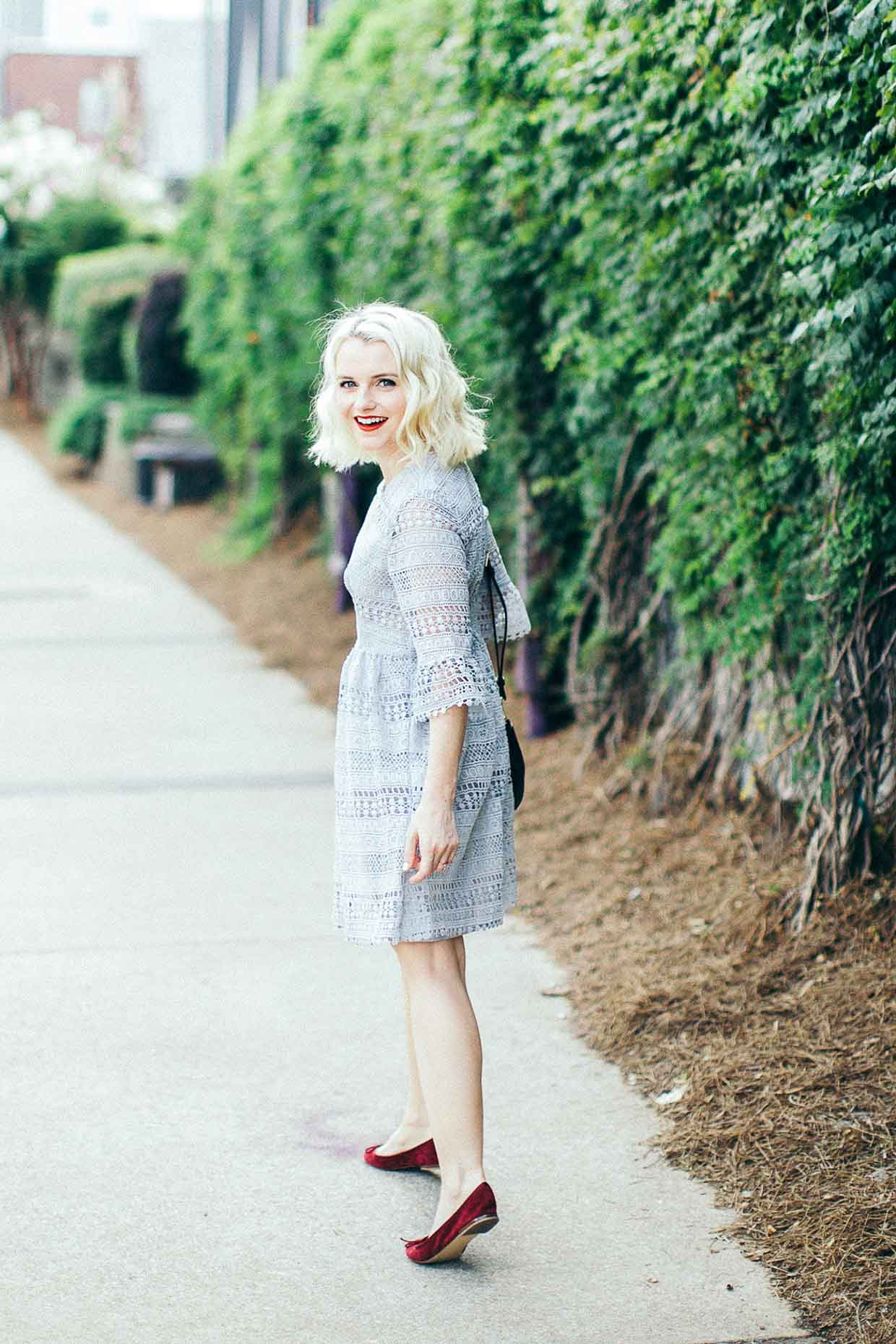Poor Little It Girl - Lace Dress With Bell Sleeves - @poorlilitgirl