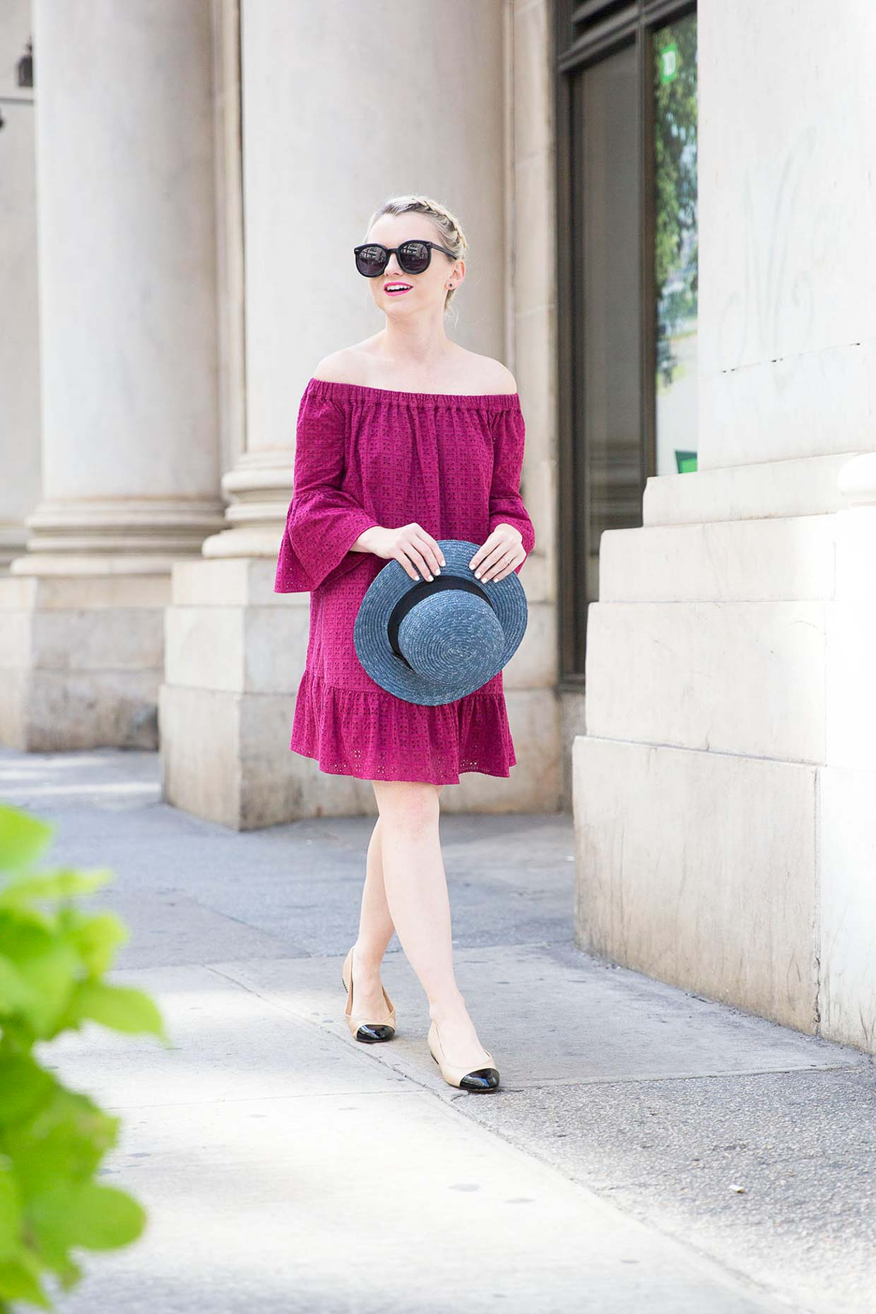 Poor Little It Girl - Off The Shoulder Dress for NYFW - @poorlilitgirl