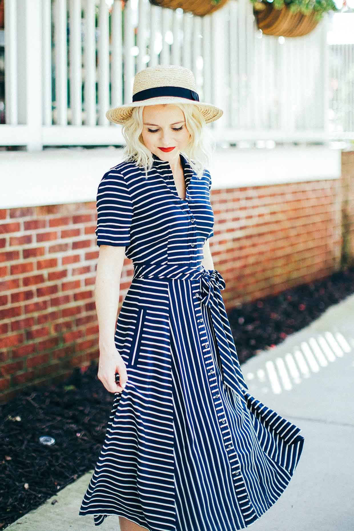 Stripe Dress - Poor Little It Girl