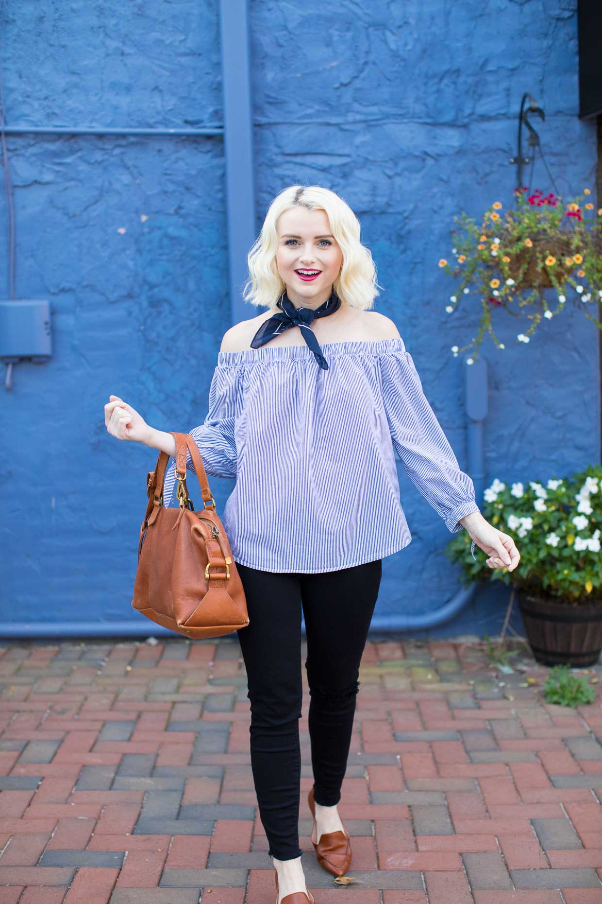 How To Style A J.Crew Bandana Neck Scarf - Poor Little It Girl