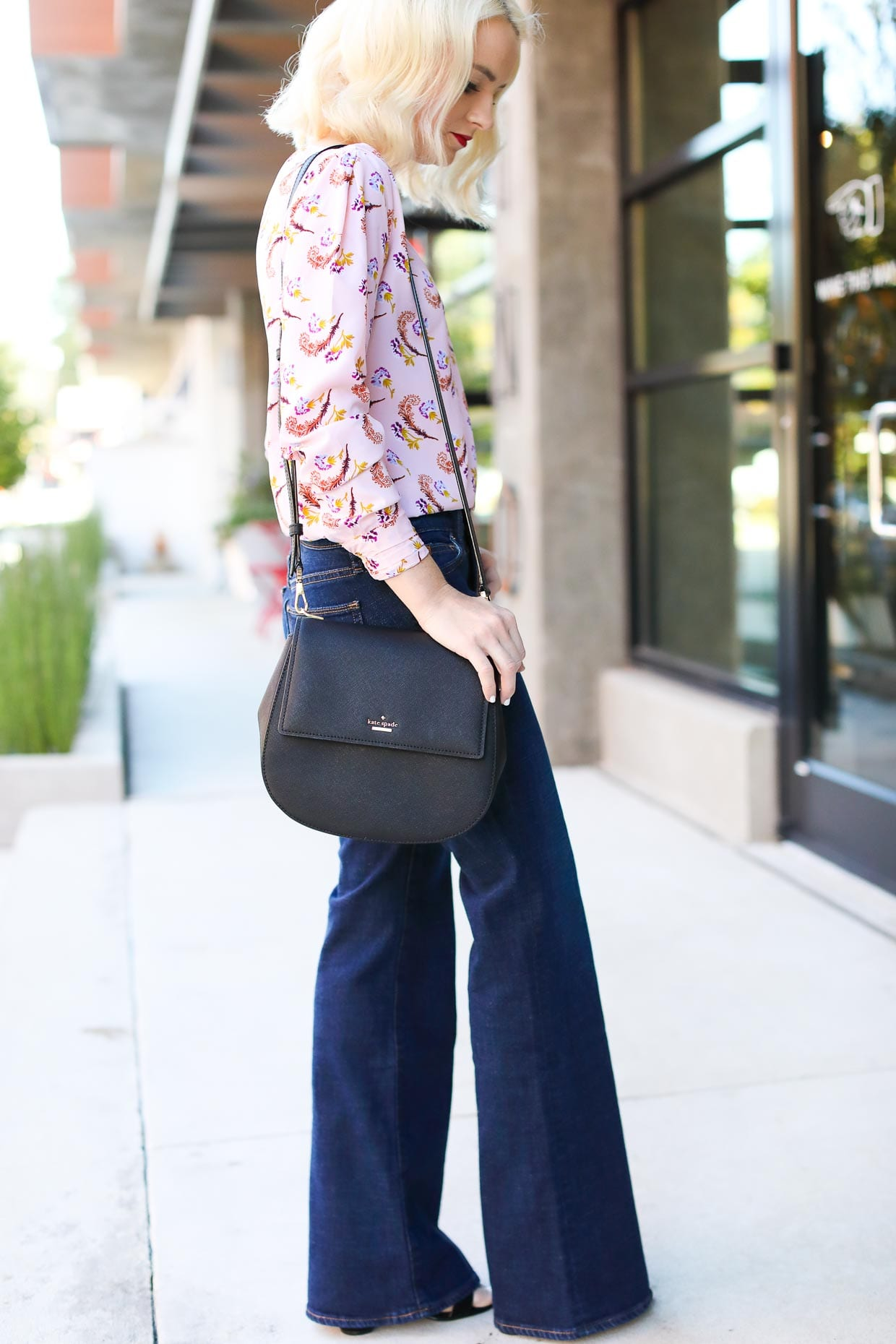 Gap Flare Jeans Styled for Fall - Poor Little It Girl