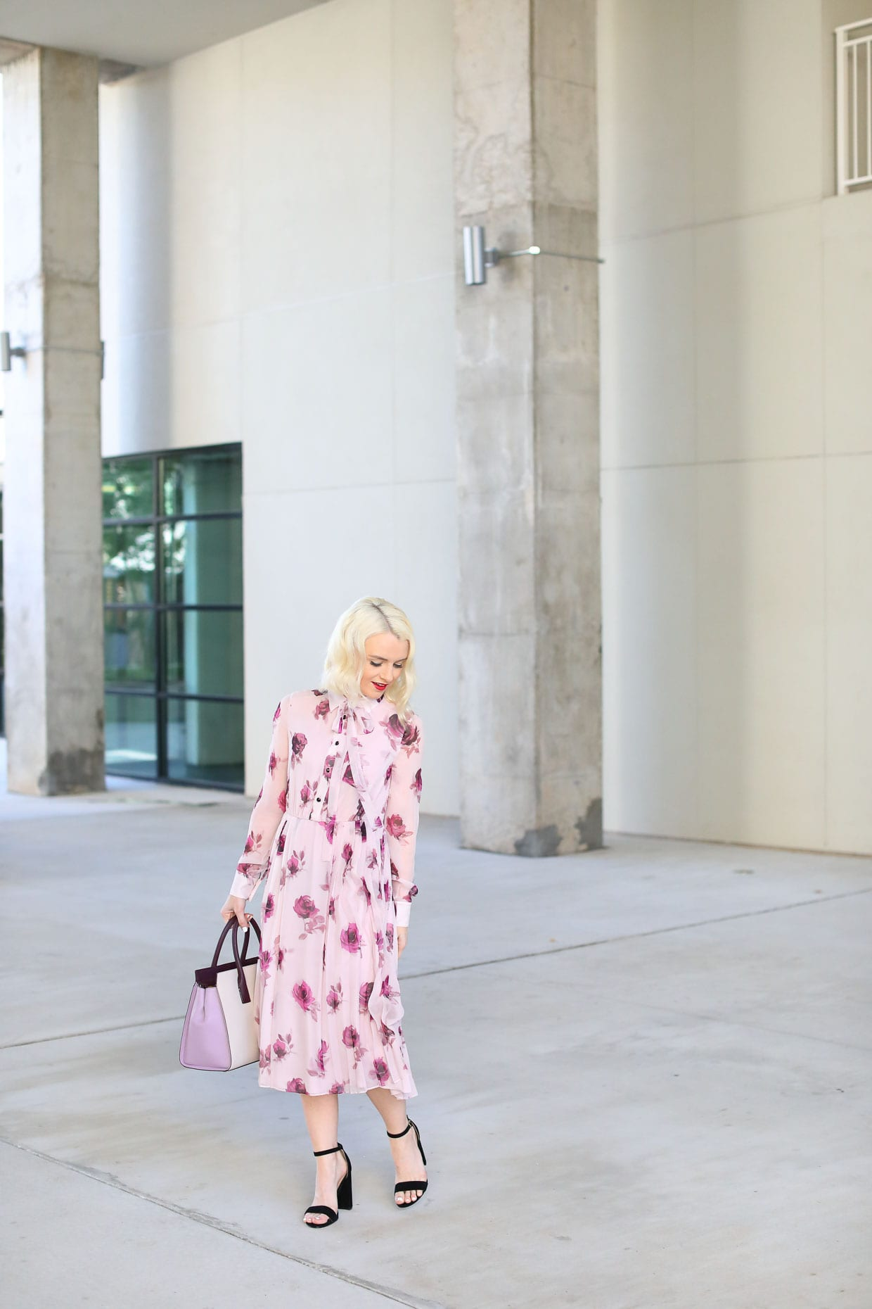 Kate Spade Rose Chiffon Dress - Poor Little It Girl