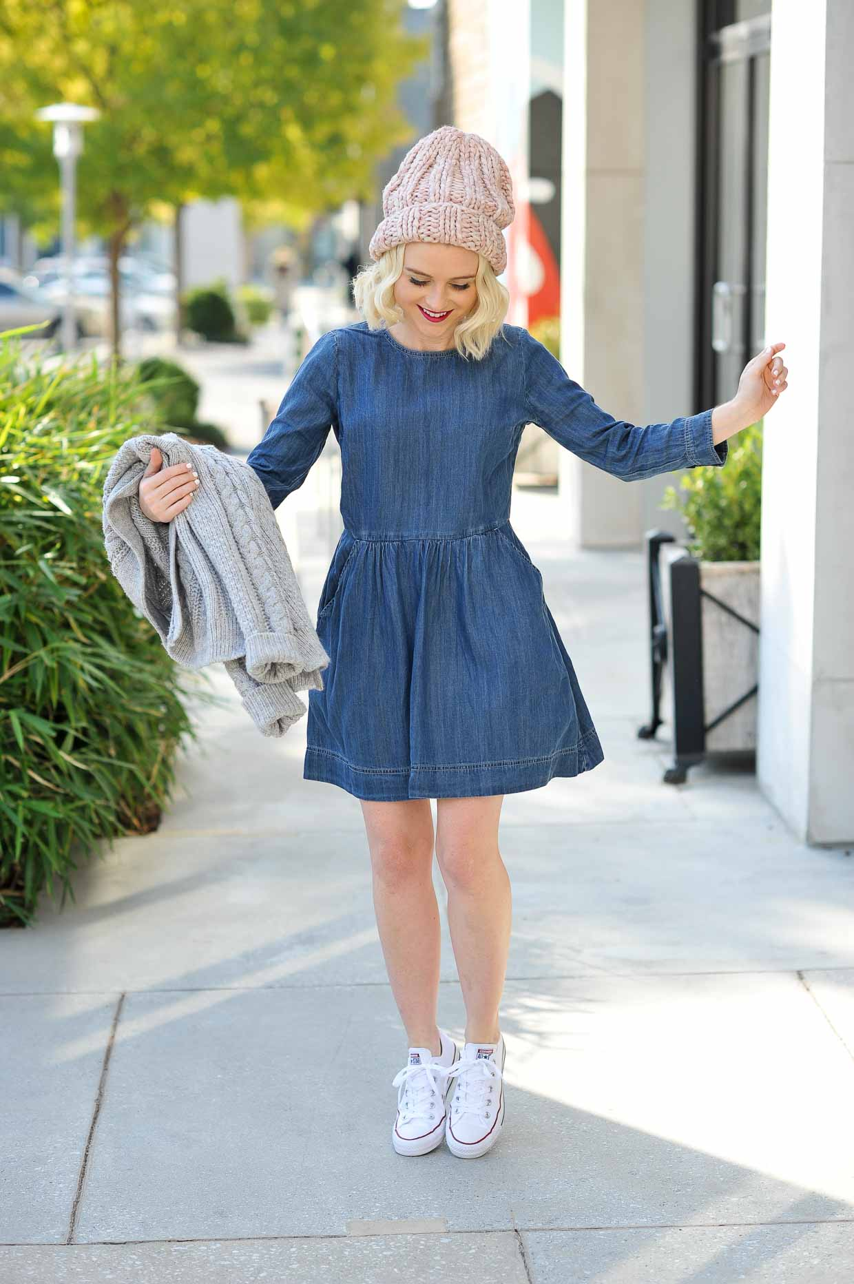 Denim Dress Styling For Fall Weather Poor Little It Girl