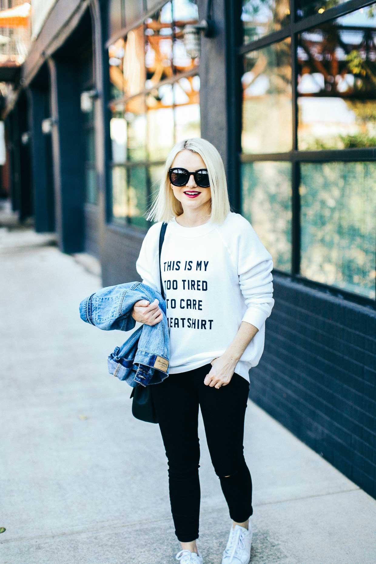 Graphic Sweatshirt - Poor Little It Girl