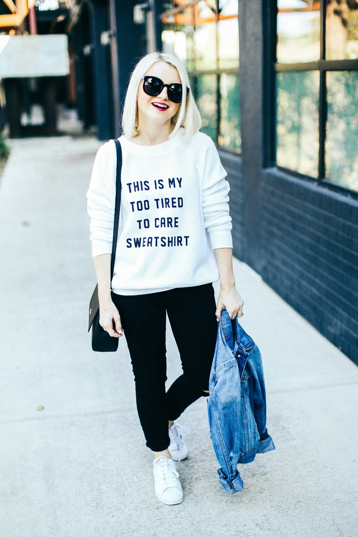 Graphic Sweatshirt - Poor Little It Girl