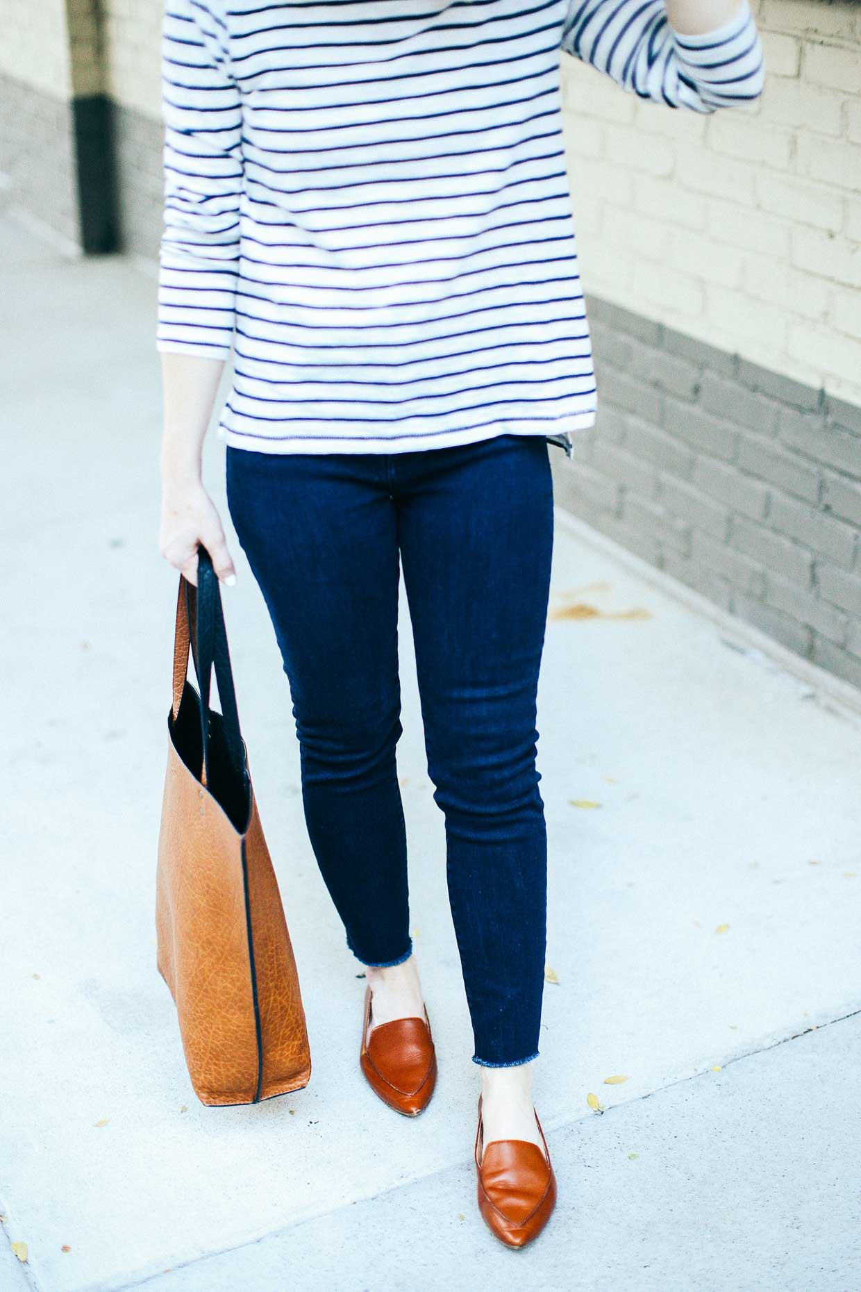 Madewell Striped Turtleneck - Poor Little It Girl