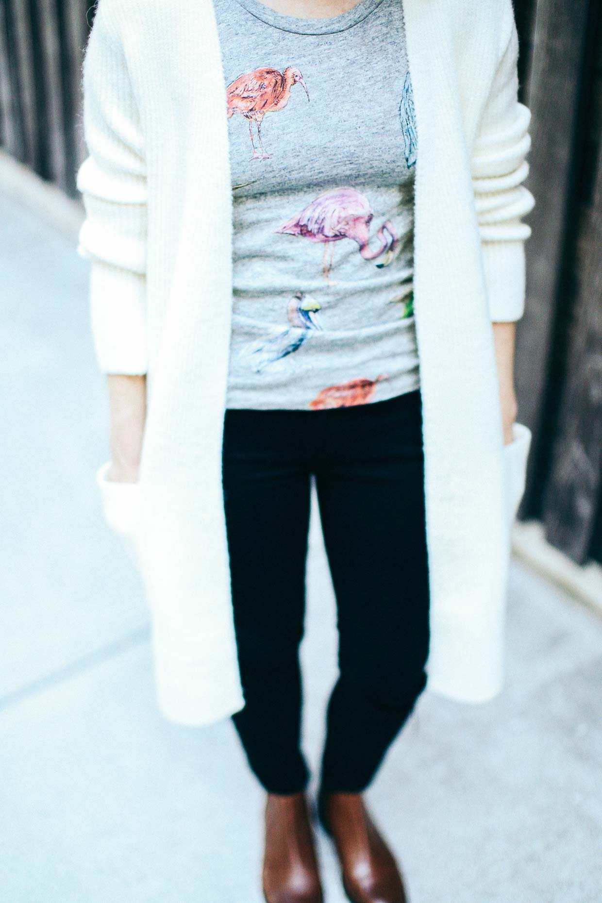 Madewell White Cardigan For Fall - Poor Little It Girl