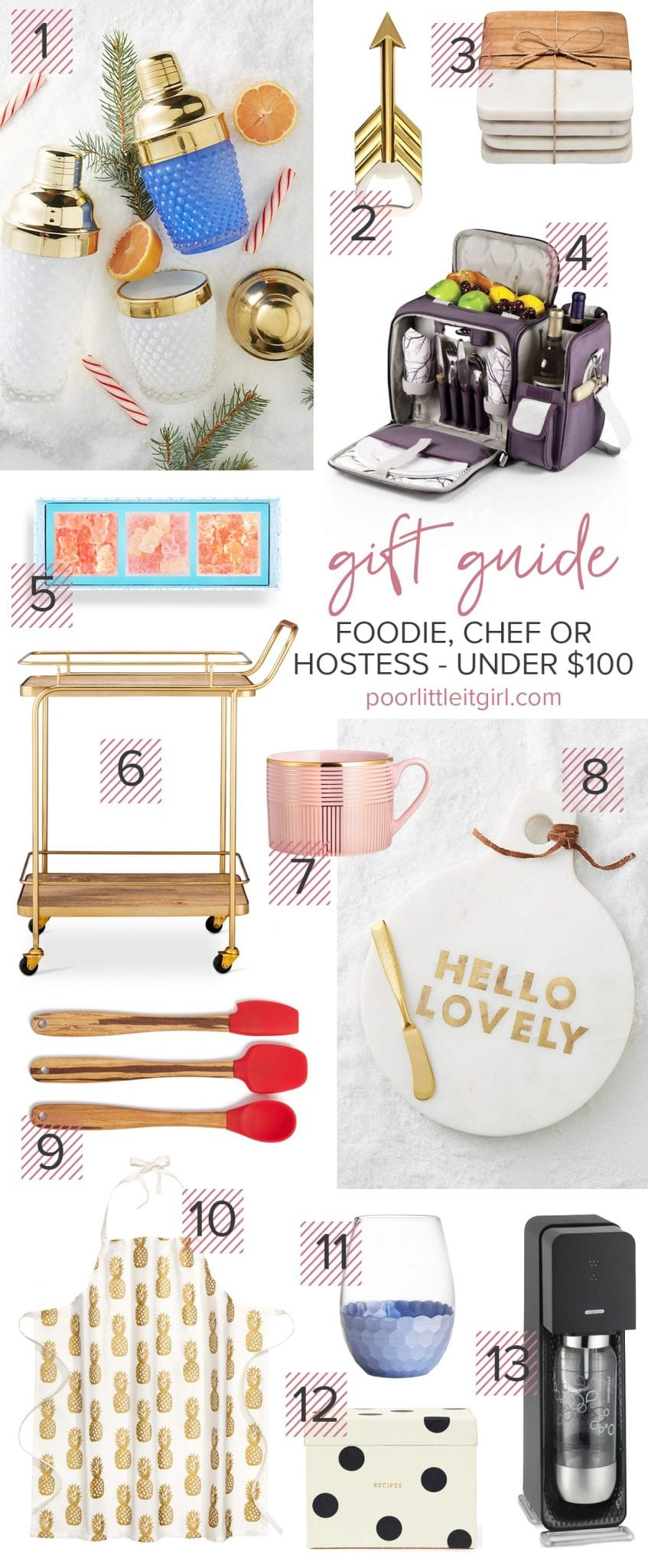 Foodie, Chef or Hostess Gift Guide Under $100 - Poor Little It Girl