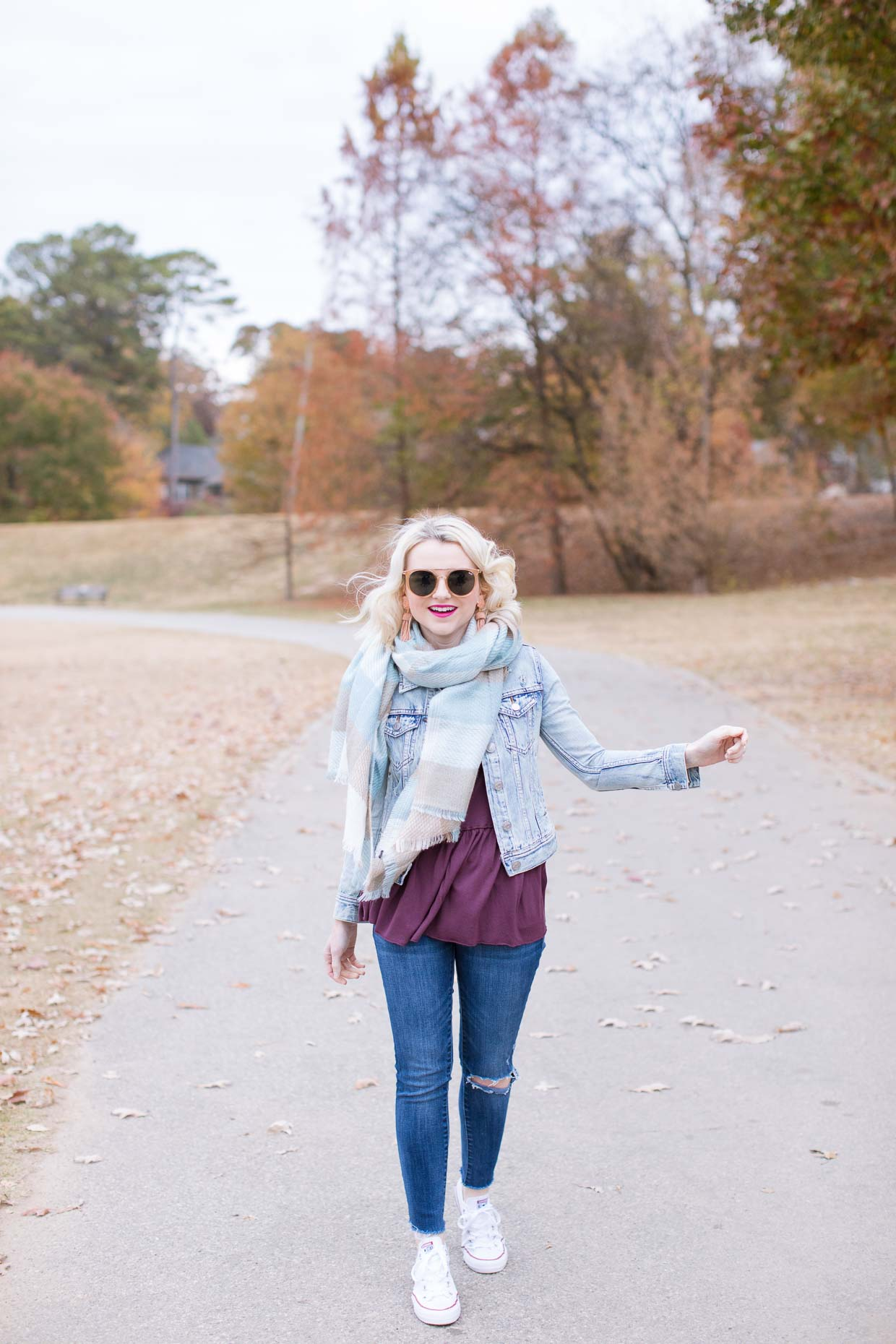 How To Style A Plaid Scarf - Poor Little It Girl