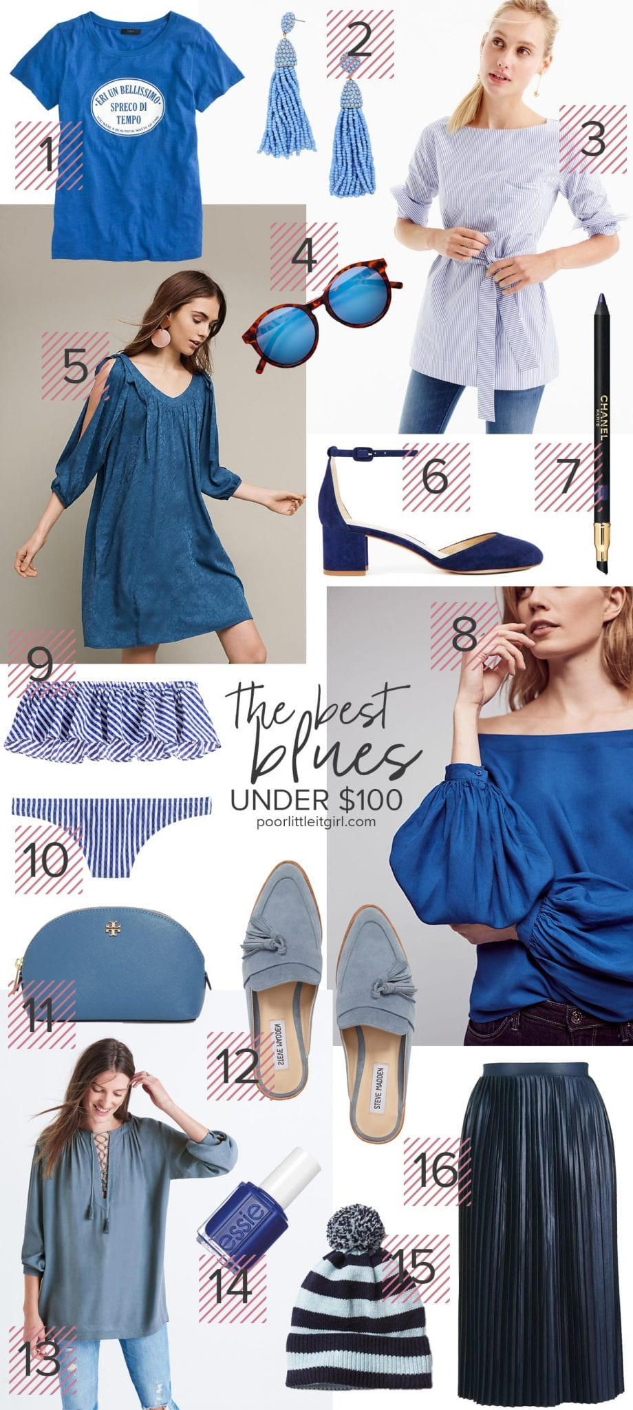 Best Blue Fashion and Accessories Under $100 - Poor Little It Girl