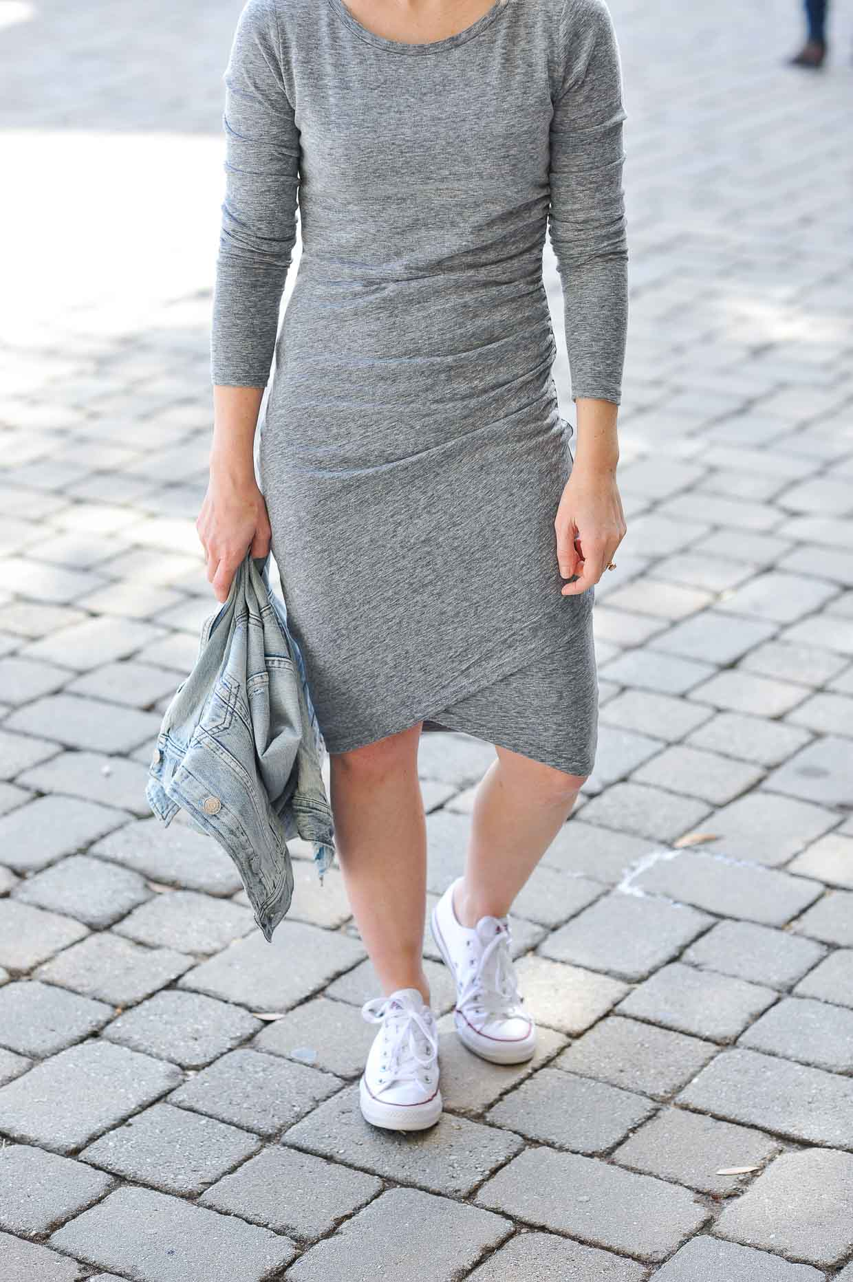 Ruched Long Sleeve Dress - Poor Little It Girl