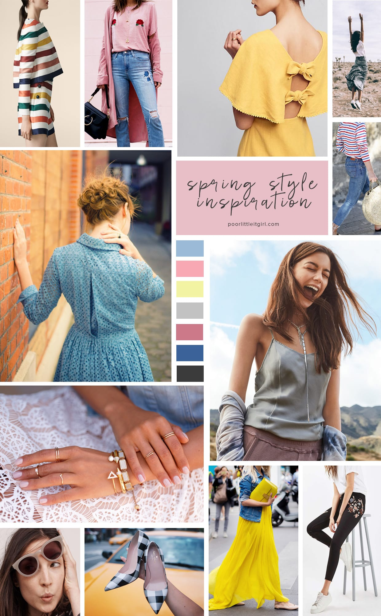 Spring Style Inspiration Mood Board - Poor Little It Girl