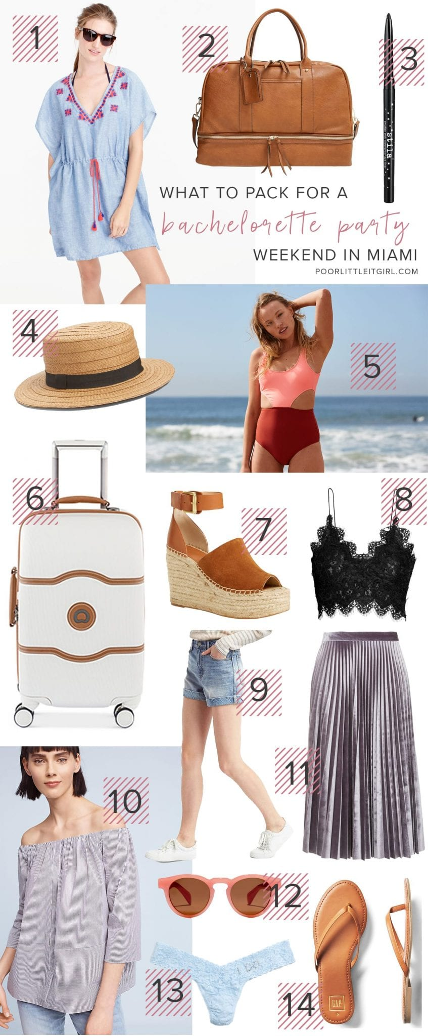What To Pack For A Bachelorette Party In Miami - Poor Little It Girl