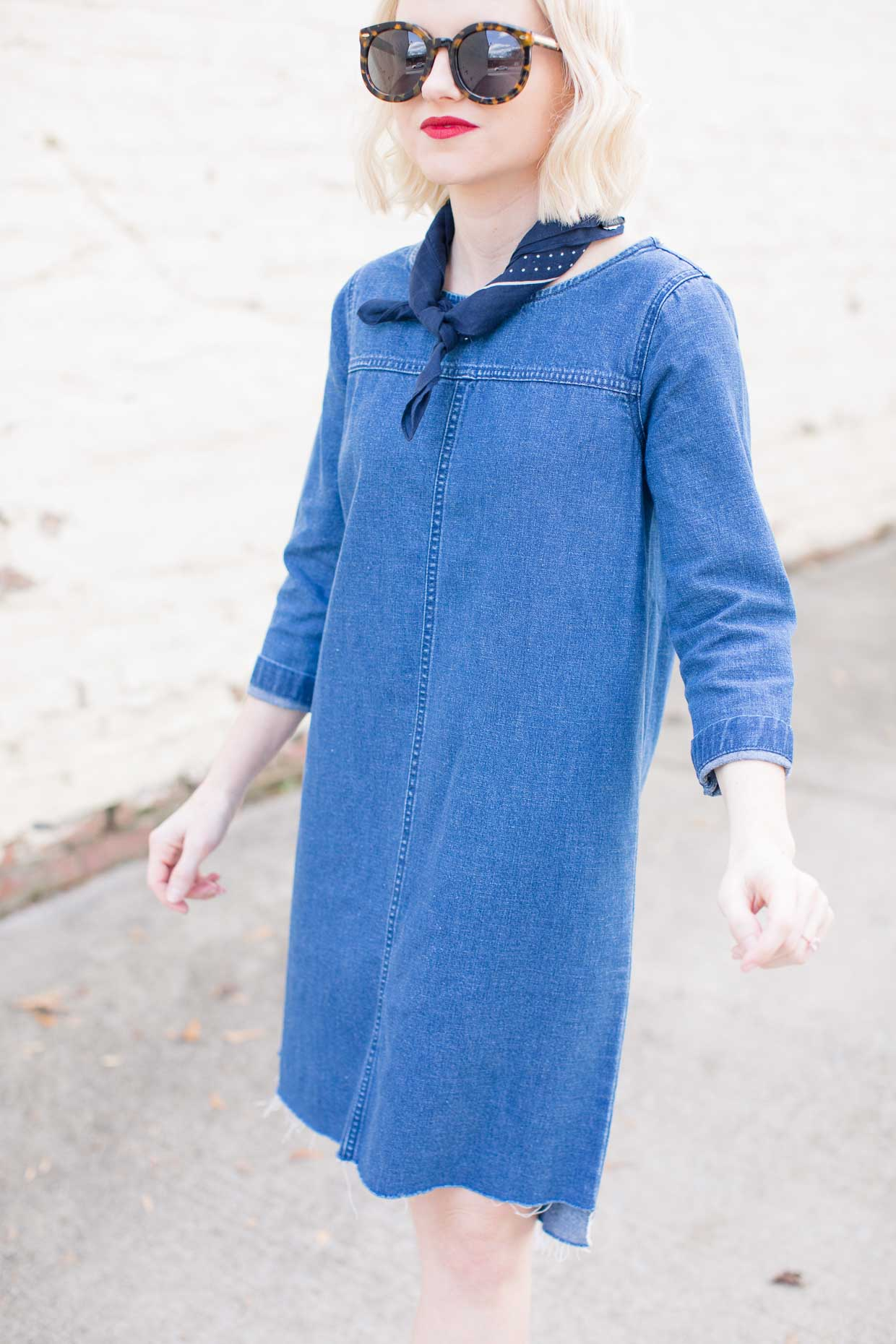 Madewell Dark Wash Denim Shift Dress - Poor Little It Girl