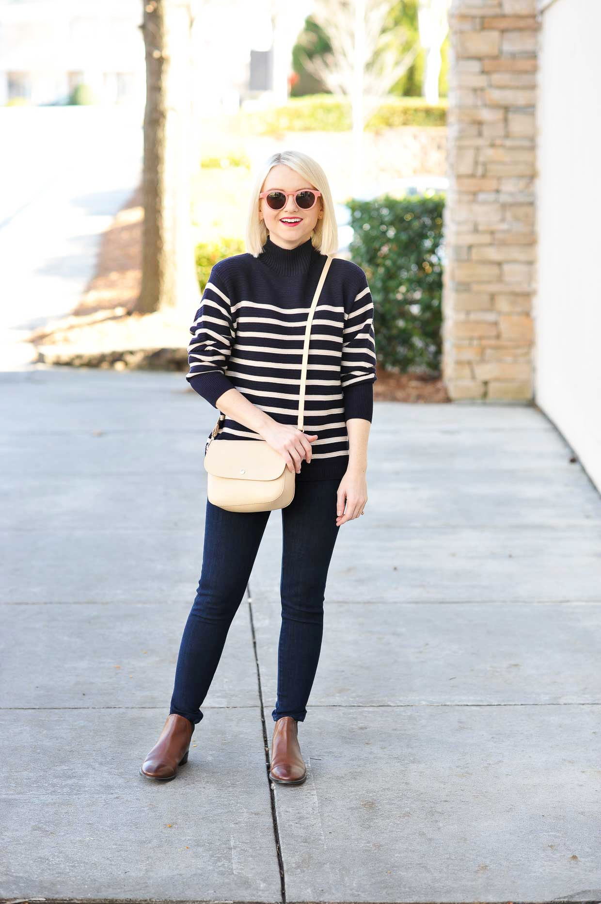 Topshop Striped Turtleneck Sweater - Poor Little It Girl