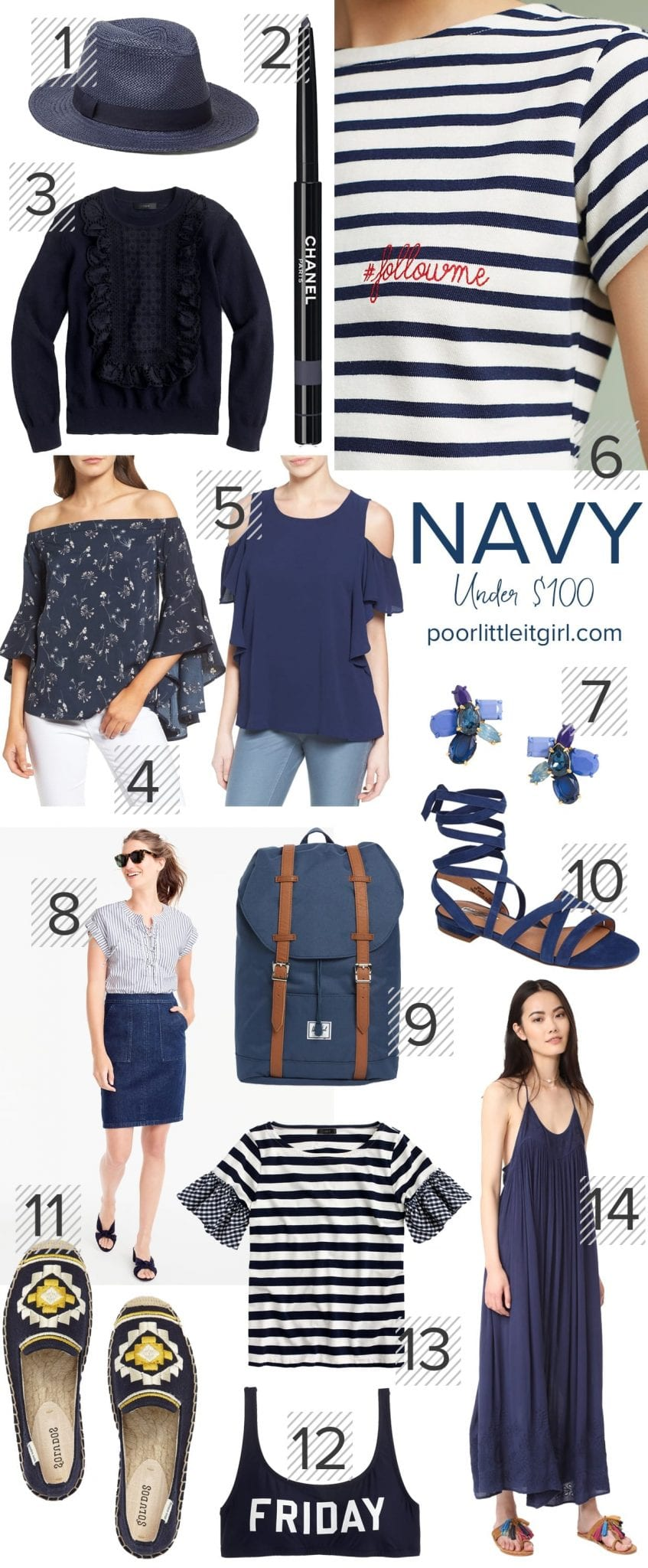 Navy Color Crush - Style Inspiration - Poor Little It Girl