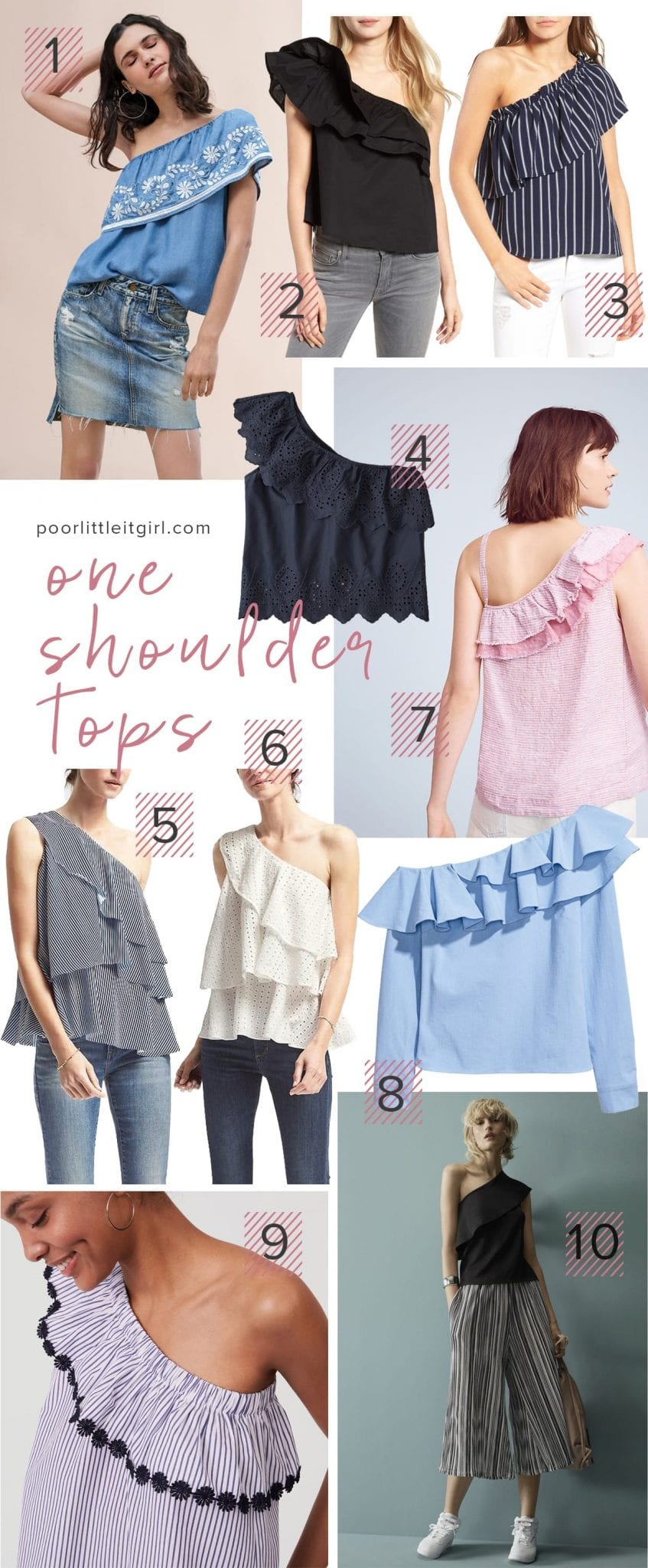 One Shoulder Top - Spring Style Trend - Poor Little It Girl