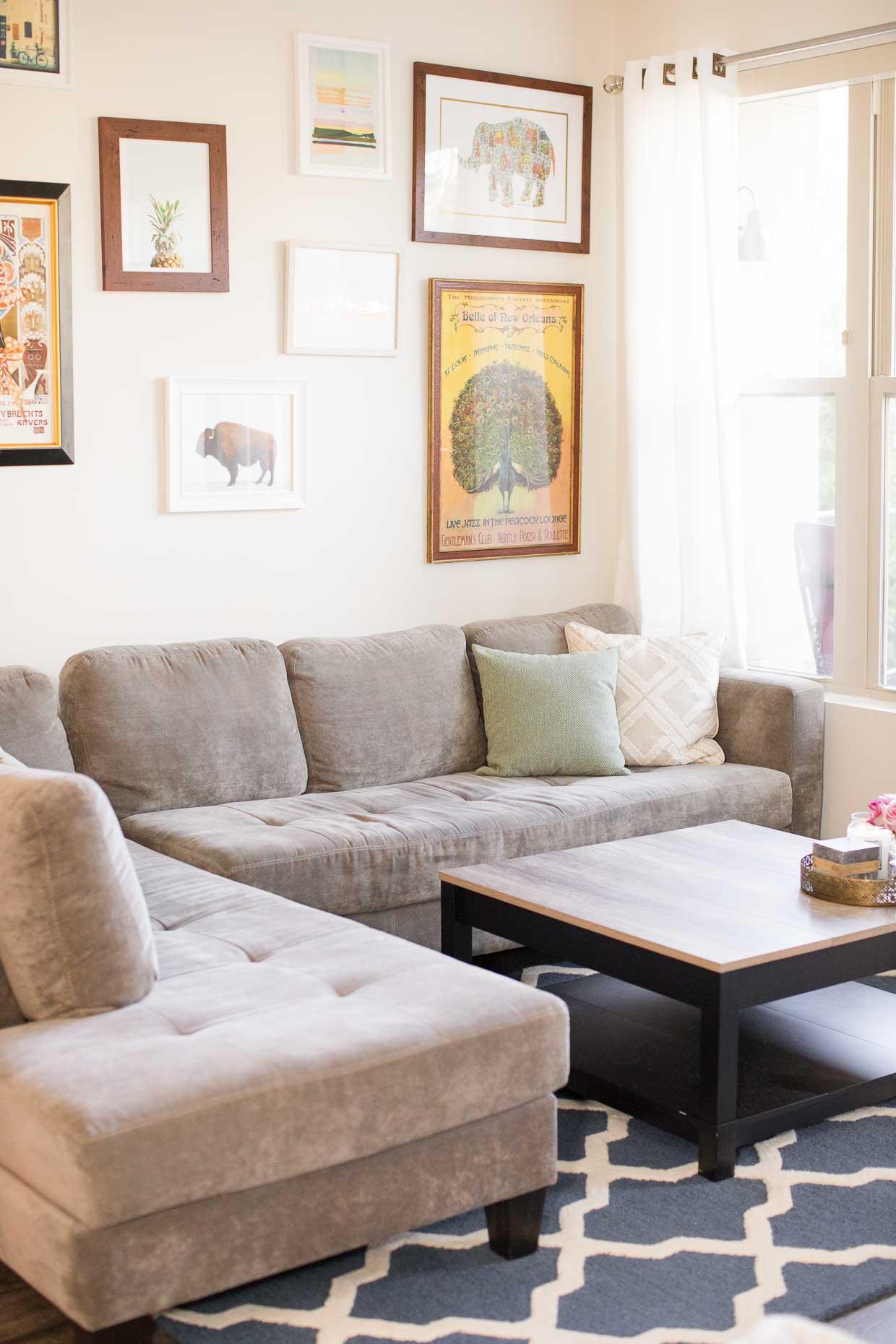 Atlanta Apartment Tour - Affordable Home Decor - Poor Little It Girl