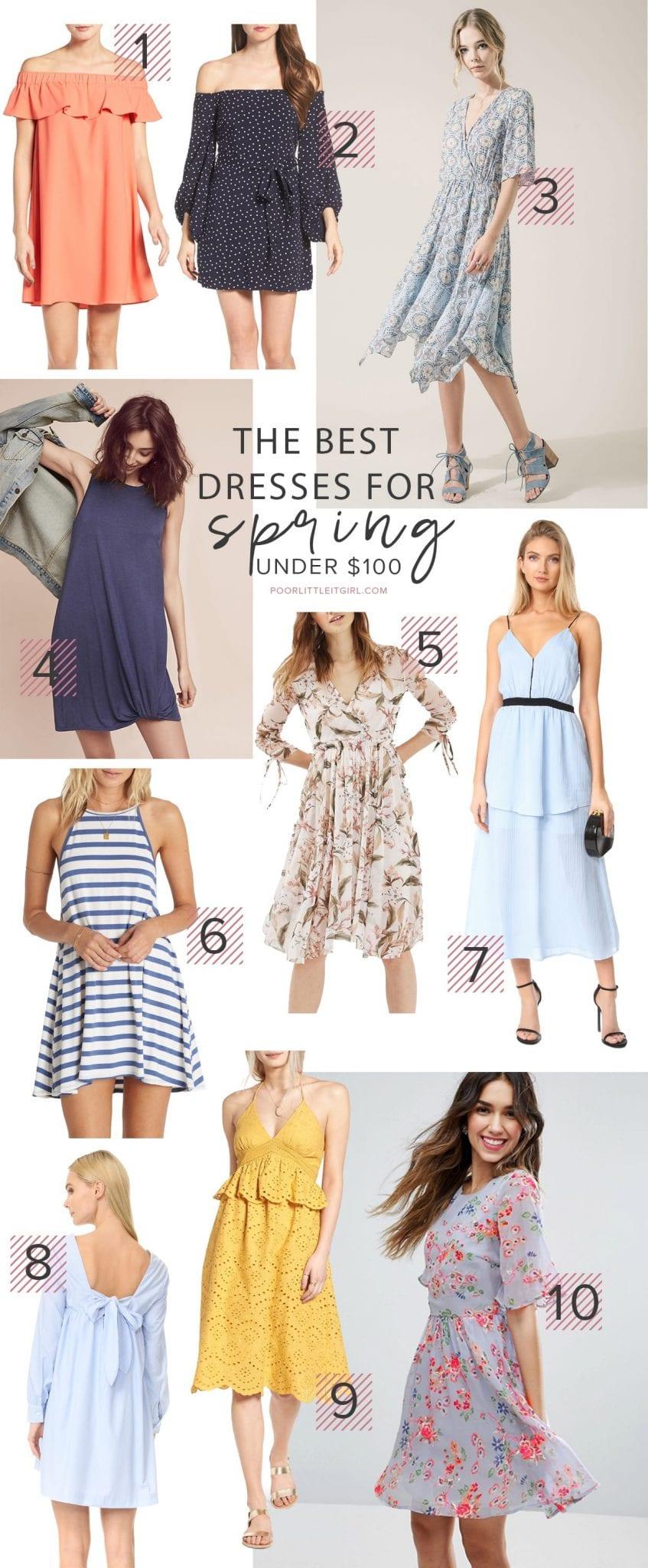 The Best Spring Dresses Under $100 - Poor Little It Girl
