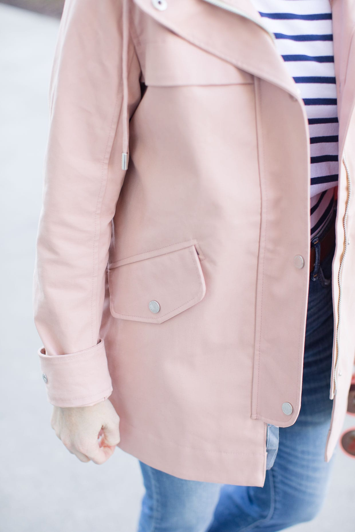 Abercrombie Pink Classic Raincoat - Poor Little It Girl