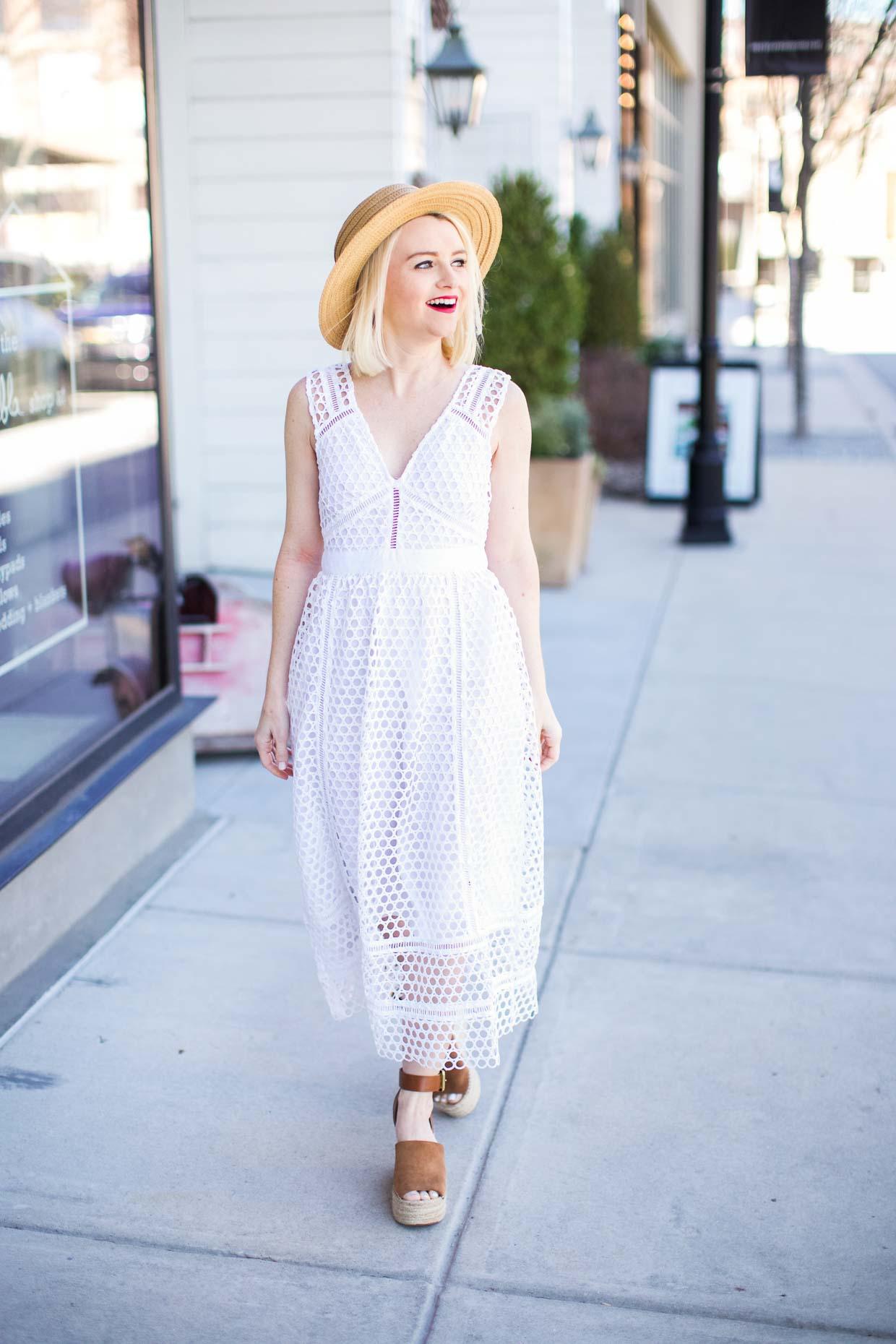 White Lace Midi Dress - Poor Little It Girl