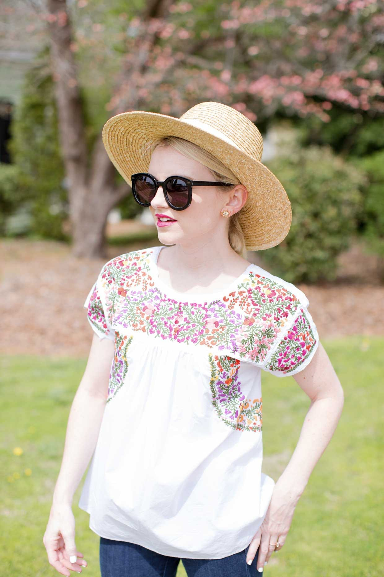 Floral Embroidered Top - Poor Little It Girl