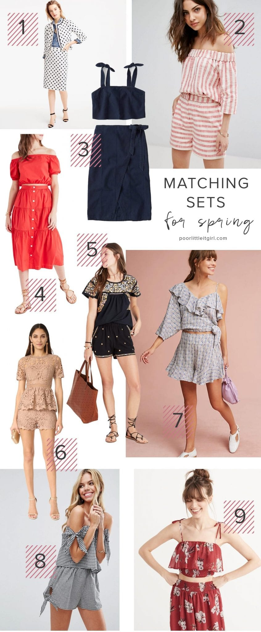 Matching Sets For Spring - Poor Little It Girl