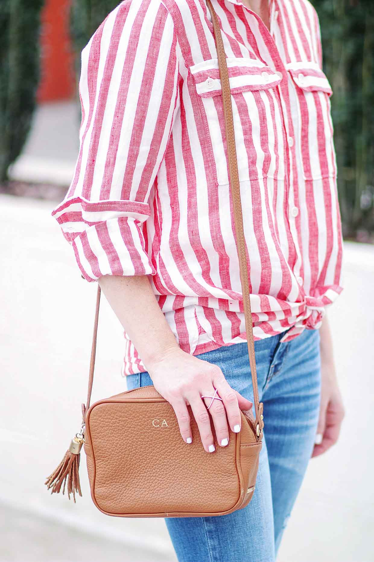 Red Stripe Shirt - Spring Styling - Poor Little It Girl