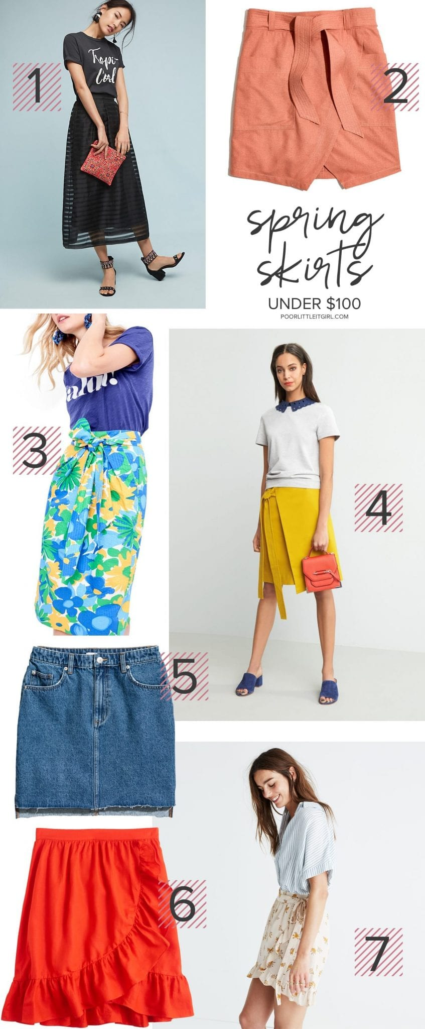 The Best Spring Skirts Under $100 - Poor Little It Girl
