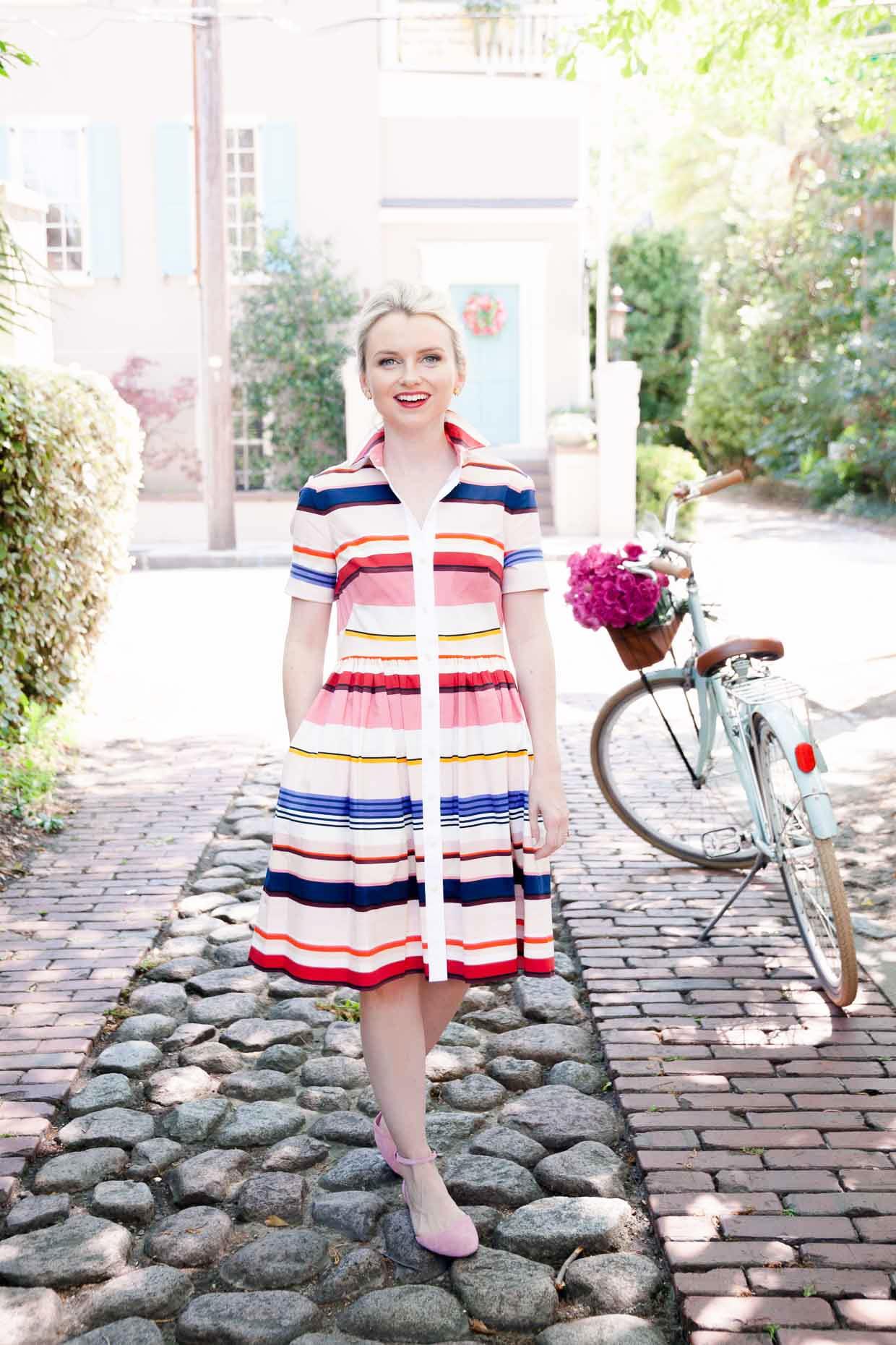 Kate Spade New York Stripe Shirtdress - Poor Little It Girl