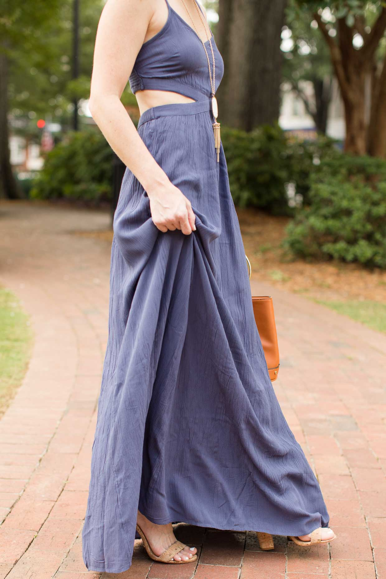 Maxi summer dress with cutouts