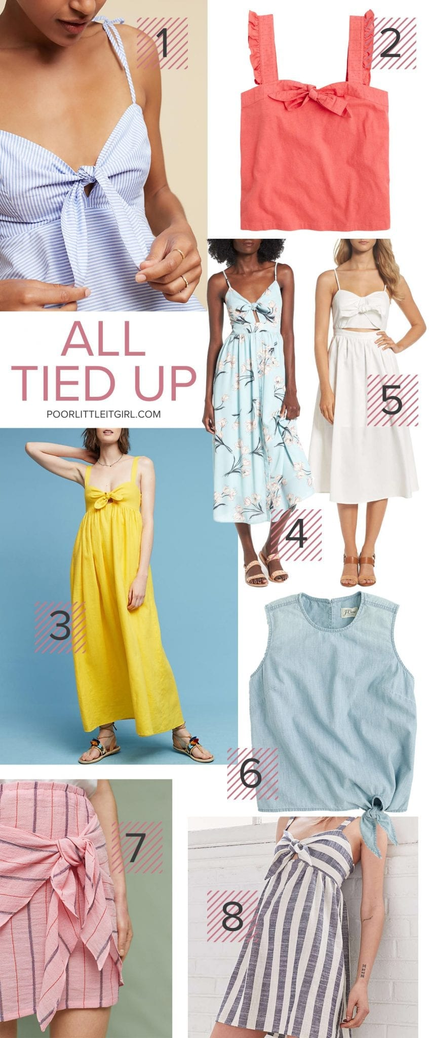 Tie Front Tops and Dresses - Summer Style Trend - Poor Little It Girl