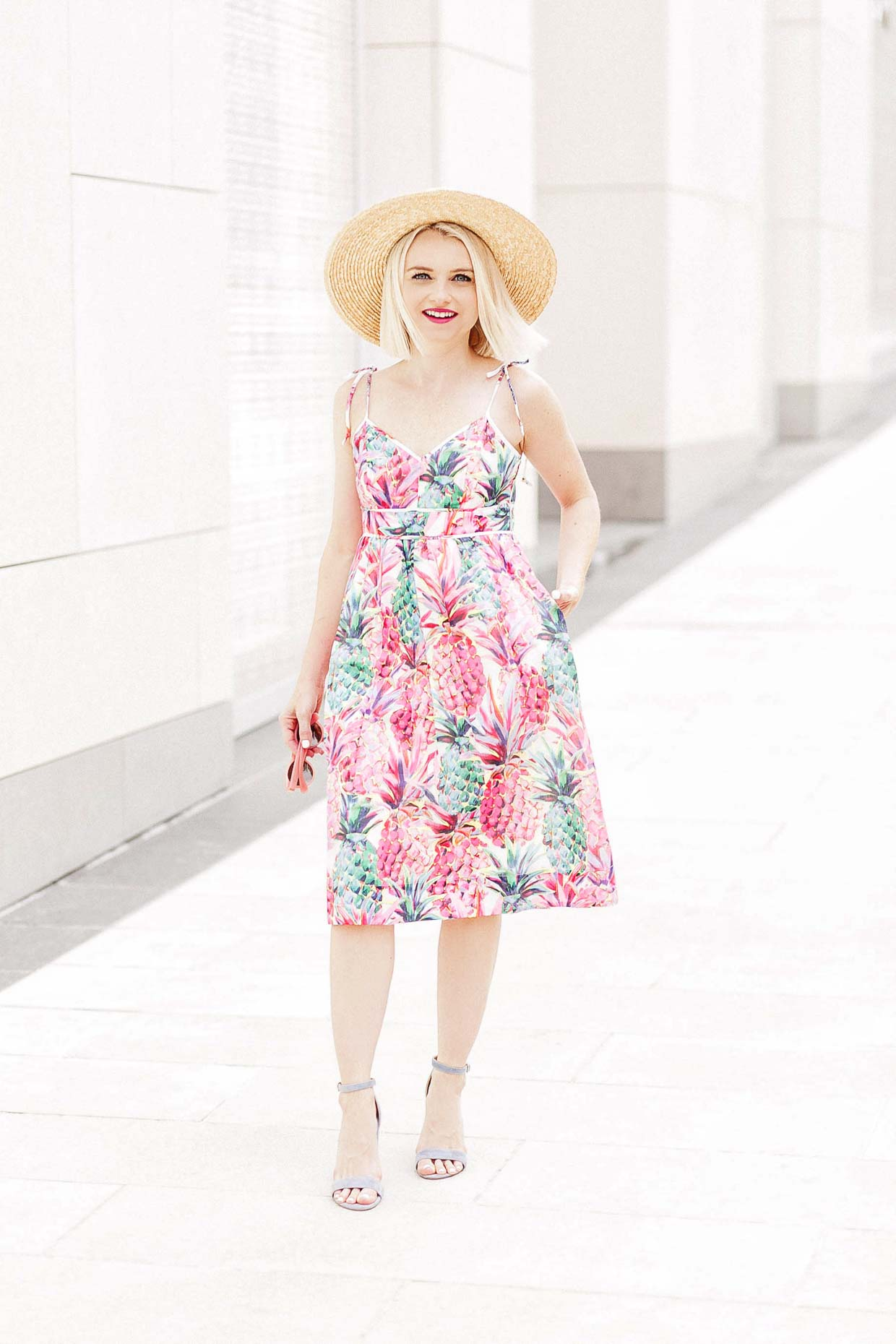 Pink Painted Pineapple Print Sundress Poor Little It Girl