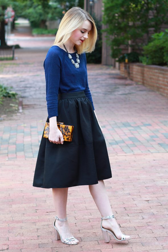 76f11666548 How To Style Navy and Black Together - Poor Little It Girl