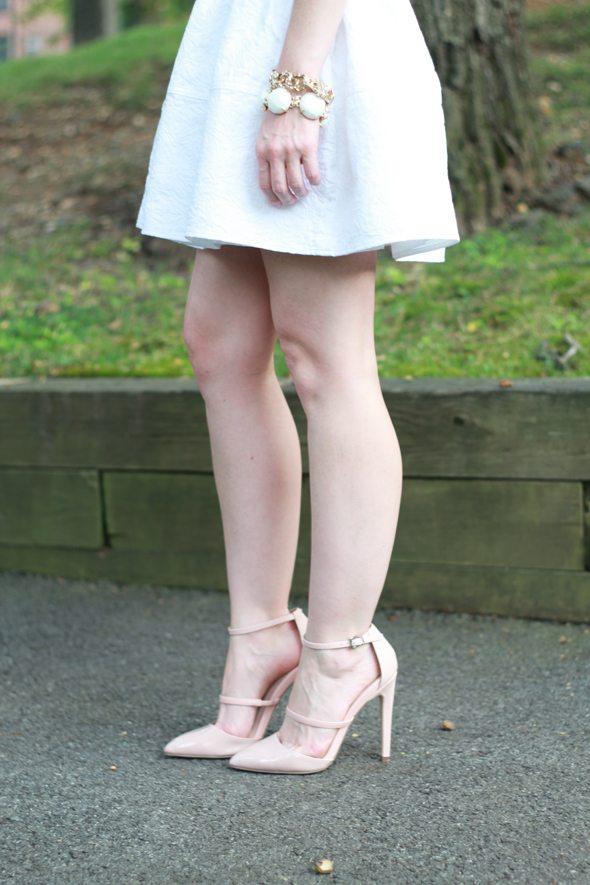 8910df89859 Express White Jacquard Mini Skirt - Poor Little It Girl