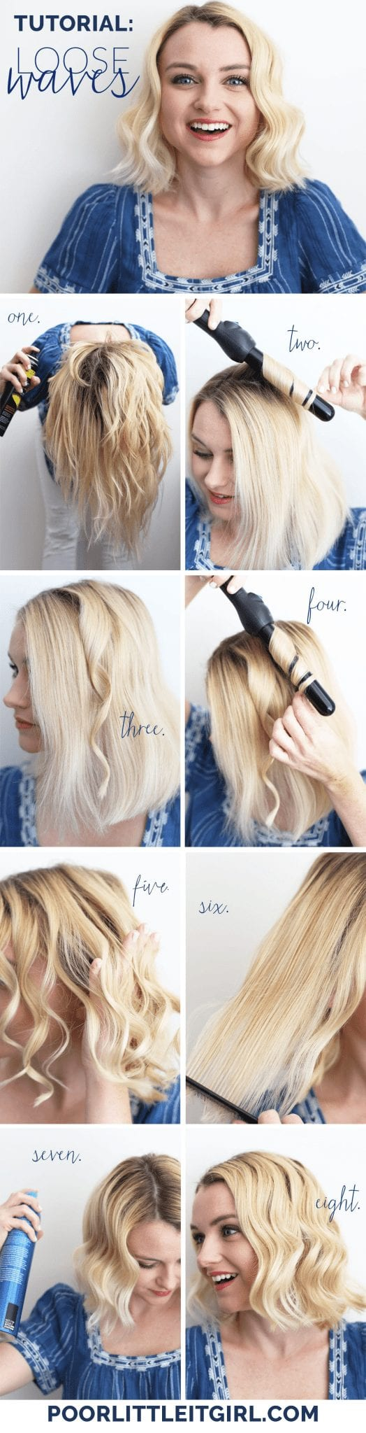 How To Create Loose Waves On Short Hair Poor Little It Girl
