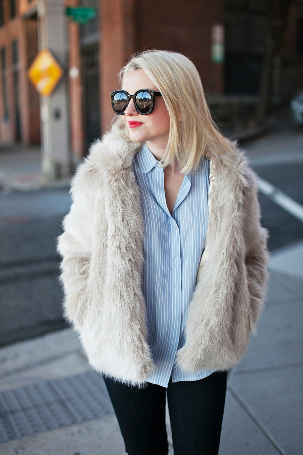 8c7a316fb633 How To Style A Faux Fur Jacket For Winter - Poor Little It Girl