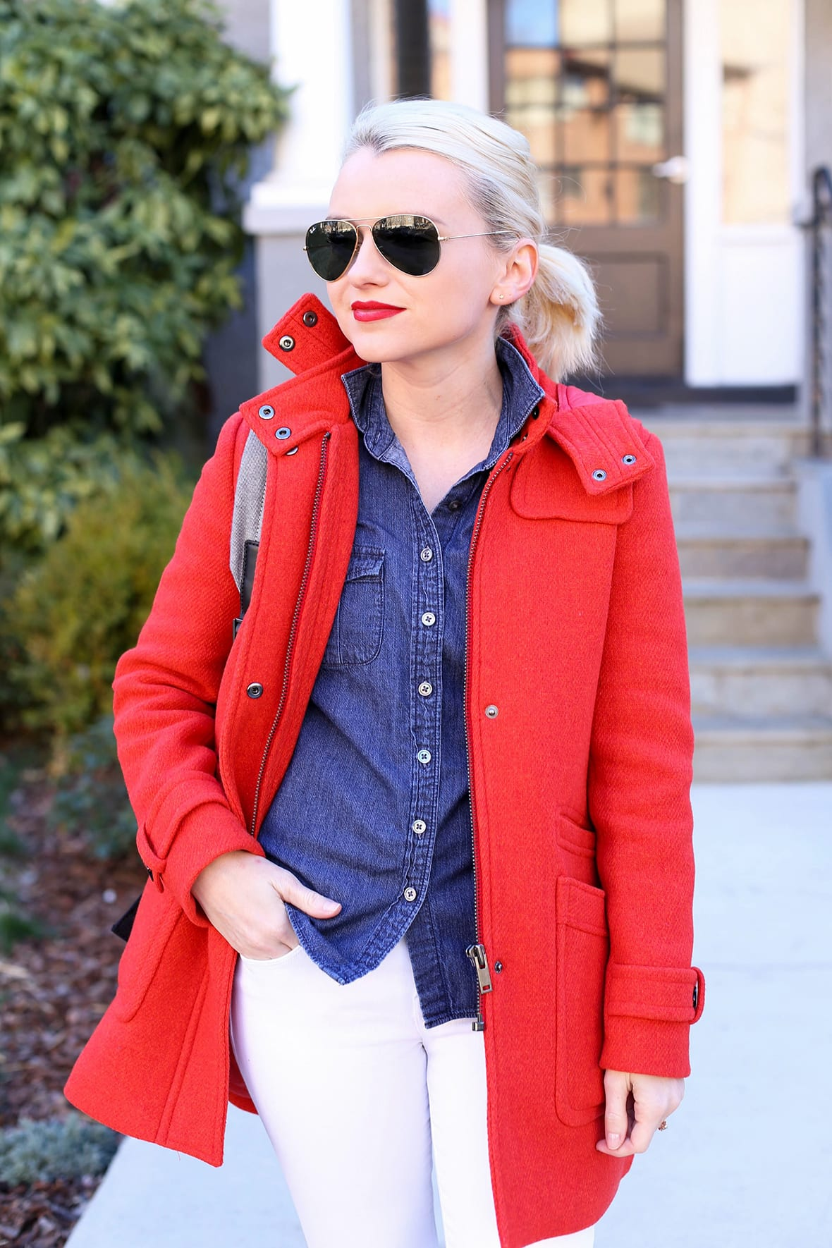 6a0d31d3f7e6 The Best Coats For Winter - How To Style A Red Coat - Poor Little It ...