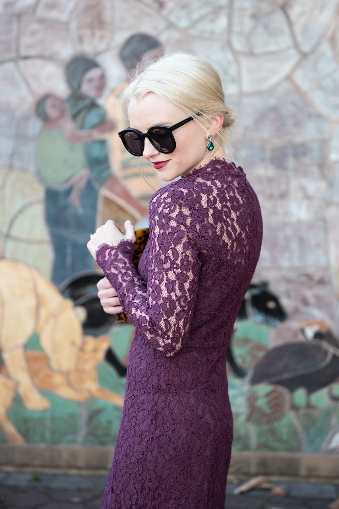 528a5d4eecba How To Style A Purple Lace Dress - Poor Little It Girl