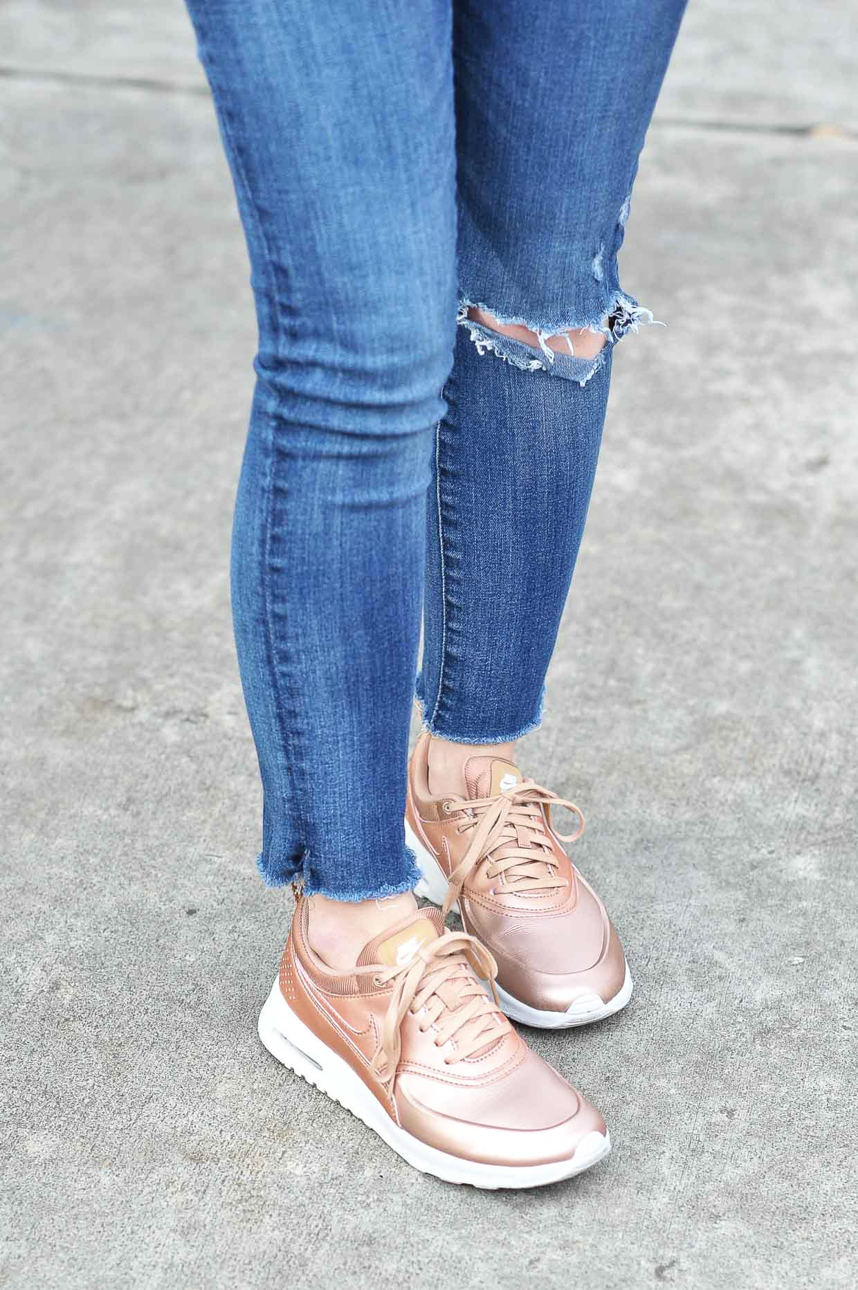 Rose Gold Sneakers For Under $100 - Poor Little It Girl